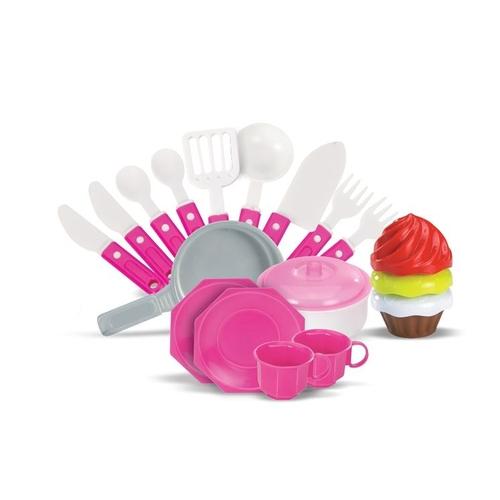 Cozinha Moranguita Infantil Pia E Fogão Magic Toys 8021