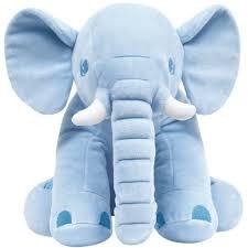 Elefantinho Pelúcia Azul