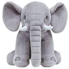 Elefantinho Pelúcia Cinza