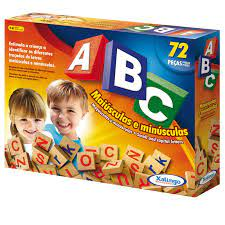 Jogo Educativo Brincando com o ABC 72 peças