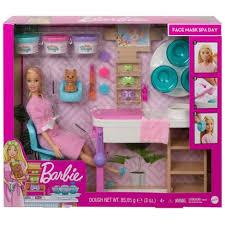 Playset Da Barbie Face Mask Dia De Spa