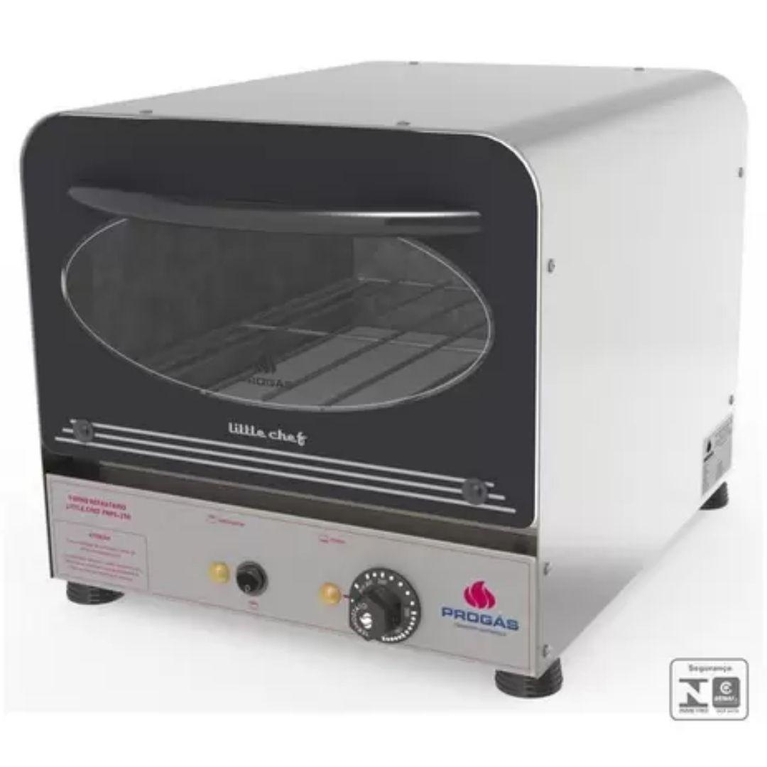 FORNO PROGAS REFRATARIO ELETRICO 32x40 INOX 25 L.