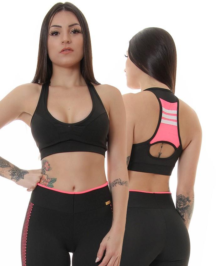 Topper Bolso Fitness Microfibra Justen Moda Íntima