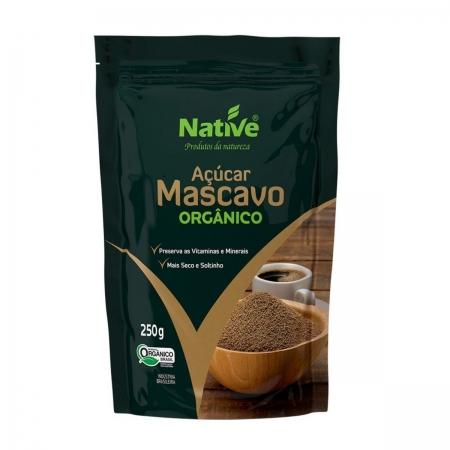 Açúcar mascavo 250g native orgânico