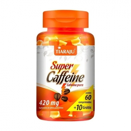 Cafeína Super Caffeine 420MG 60+10 - TIARAJU