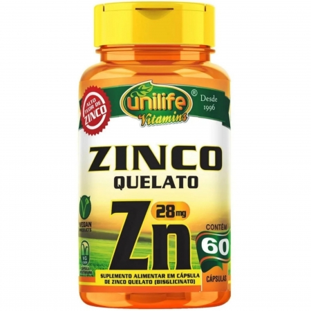 Cápsula De Zinco 60 cápsulas - Unilife
