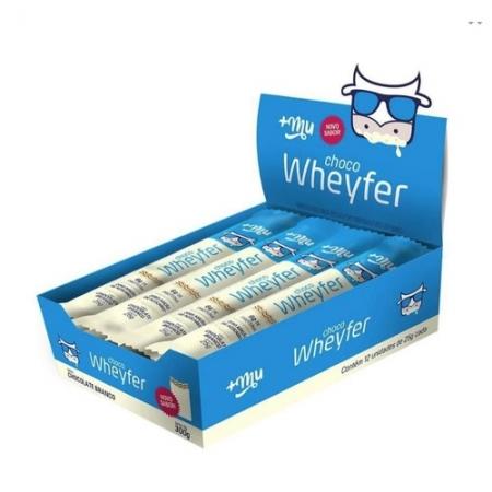 Choco wheyfer chocolate branco 25g  12 unidades +MU