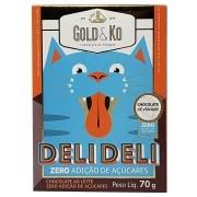 Chocolate ao Leite Zero Adição de Açúcares  70g Deli Deli - Gold & Ko