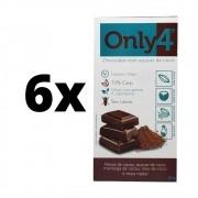 Chocolate Only4 Vegano Com Açúcar de Coco 80g 6 unidades