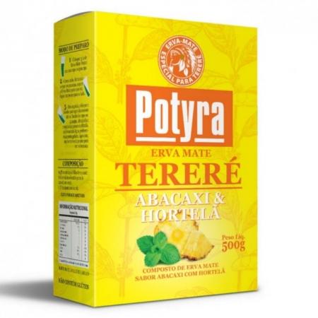 Erva Mate para Tereré sabor abacaxi com hortelã 500g Potyra