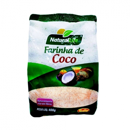 Farinha de Coco Natural Life 400g - KODILAR