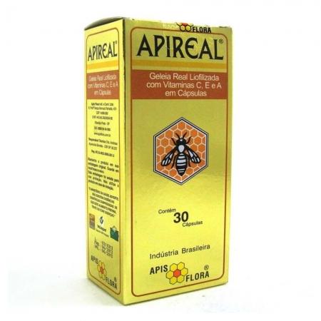Geleia Real Natural Liofilizada 30 cápsulas - APISFLORA