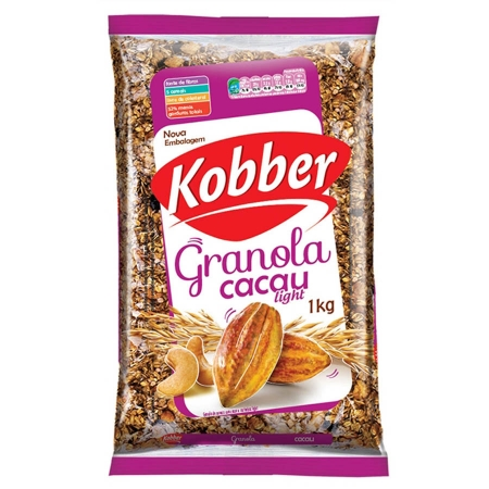 Granola Natural Cacau Light 1kg - Kobber