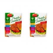 Kit 2 Hambúrguer Vegano 100% Vegetal Sem Glúten Saudável 200g Sora