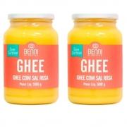 Kit 2 Manteiga Ghee Benni Com Sal Rosa Do Himalaia 500g - Benni