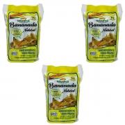 Kit 3 Banana Bananinha Sem Açúcar Natural 250g Pacote Com 10