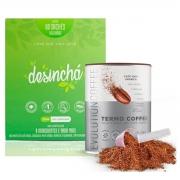 Kit Café Termogênico Thermo Coffe + Desinchá Emagrecedor