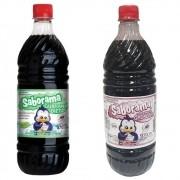 Kit com 2, 1 Groselha Diet Sem Açúcar e 1 Guaraná Diet 970ML - Saborama