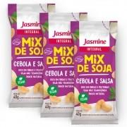 Kit com 3 Mix De Soja Integral Cebola & Salsa 40g - Jasmine