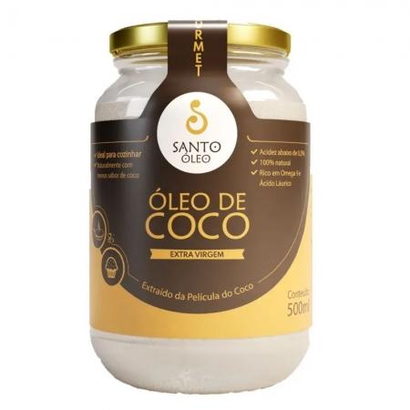 Óleo de coco extra virgem 500 ml - Santo Oleo
