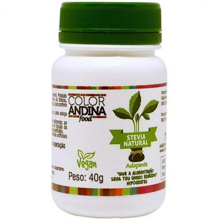 Stévia 100% Natural 40G - COLOR ANDINA