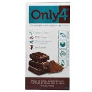 Tablete De Chocolate 70% Cacau Açúcar De Coco 80g - Only4
