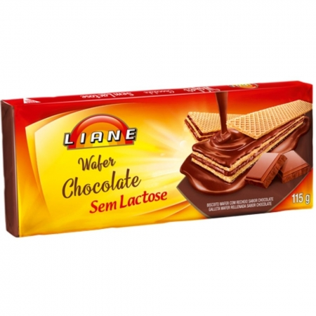 Wafer Chocolate Sem Lactose 115g - LIANE