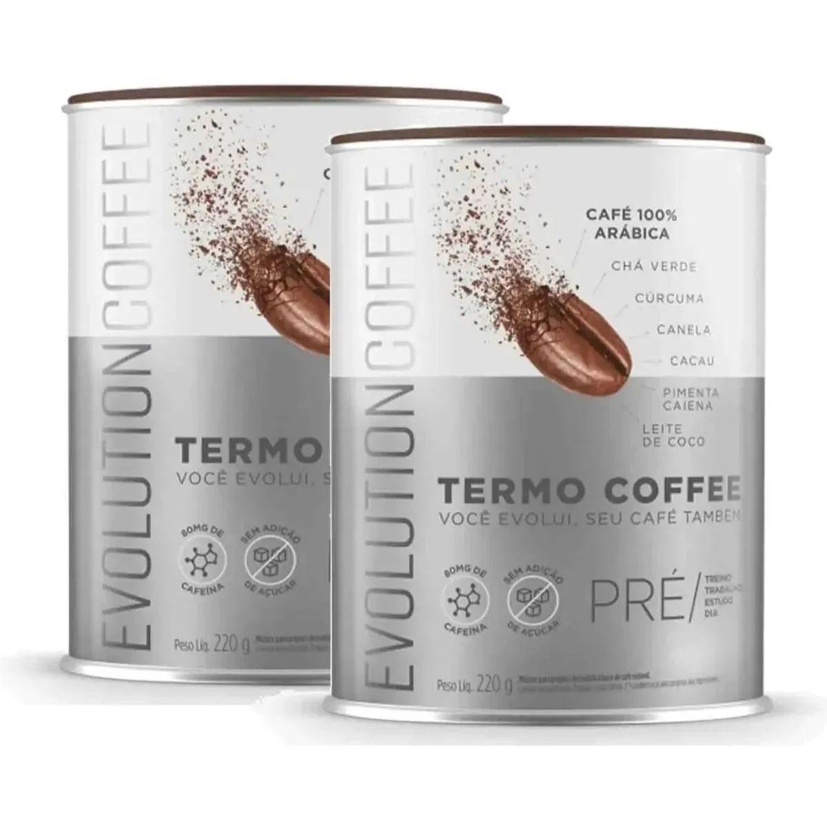 2 Termo Coffee Evolution Original Café Termogênico