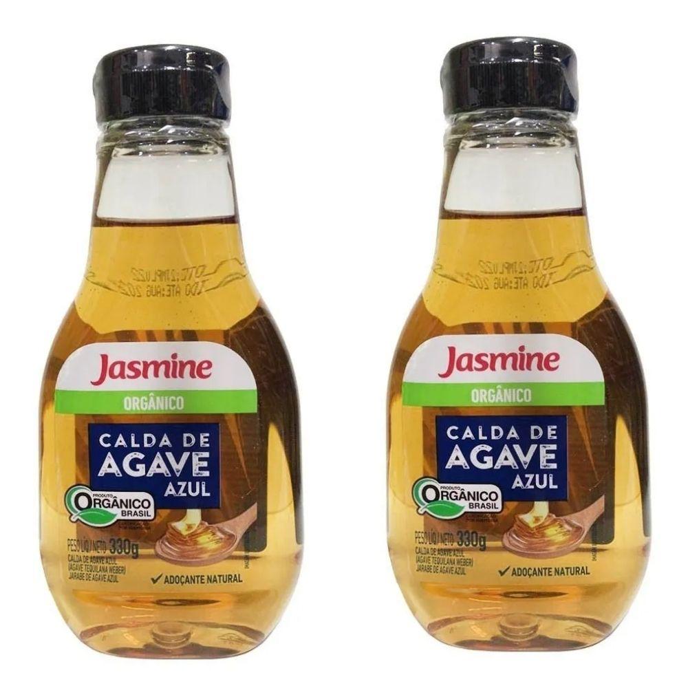 2x Calda De Agave Azul Orgânica 330g Jasmine Substitui O Açúcar