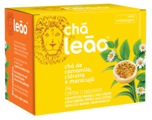3 Chá Camomila Cidreira E Maracujá 24g Com 15 Saq. Chá Leão
