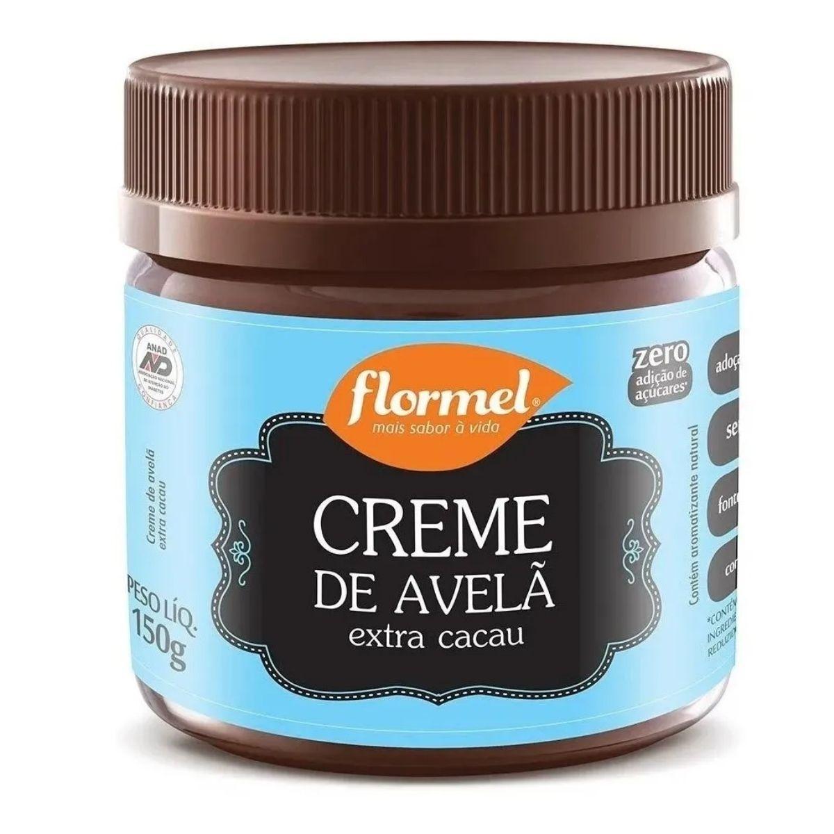 3 Creme De Avelã E Cacau Zero Açúcar Flormel