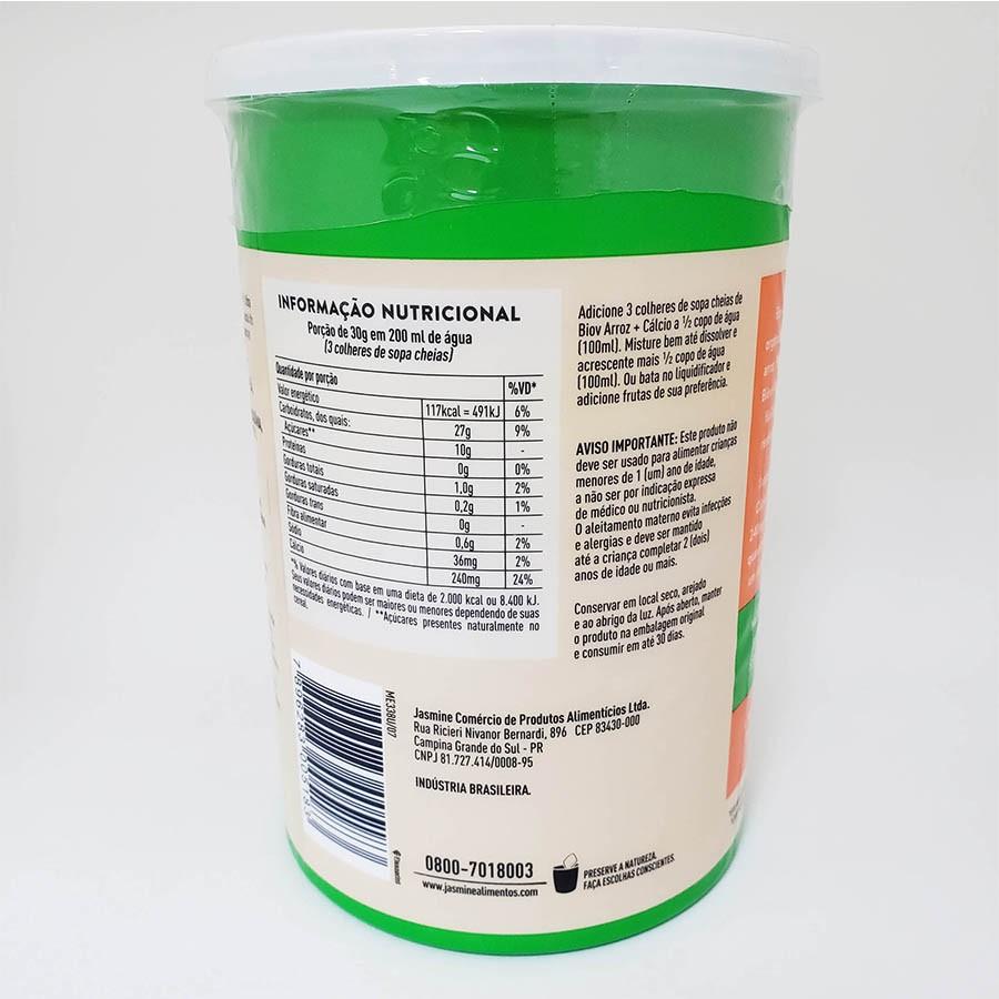 3x Leite De Arroz E Cálcio Em Pó Orgânico Biov Jasmine