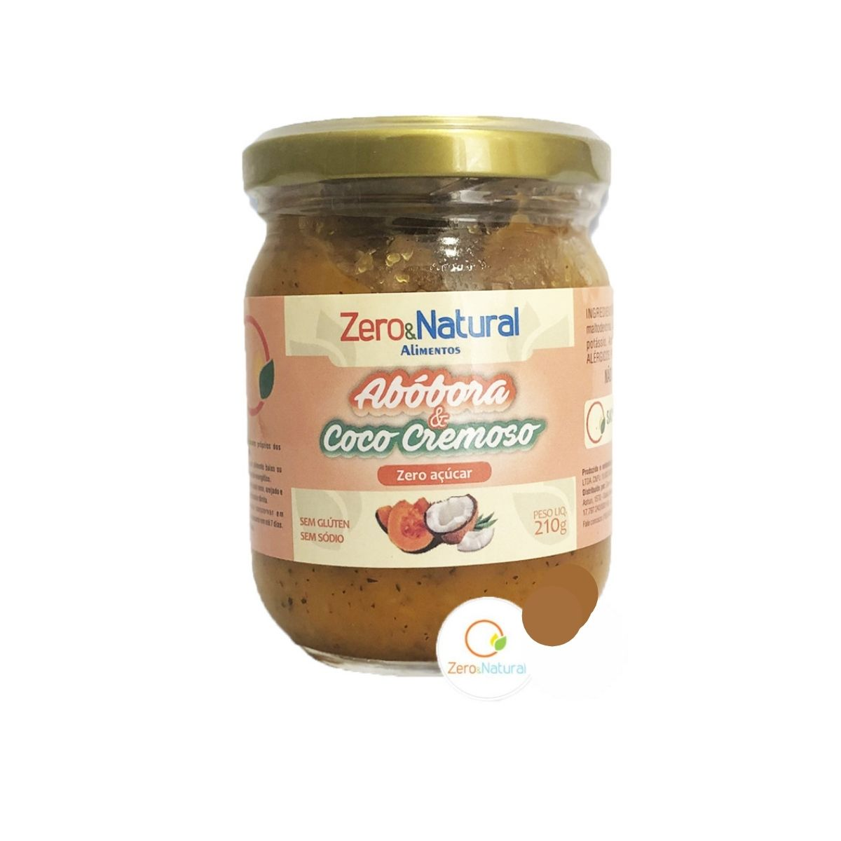 Abóbora e coco cremoso zero 210g - Zero&Natural