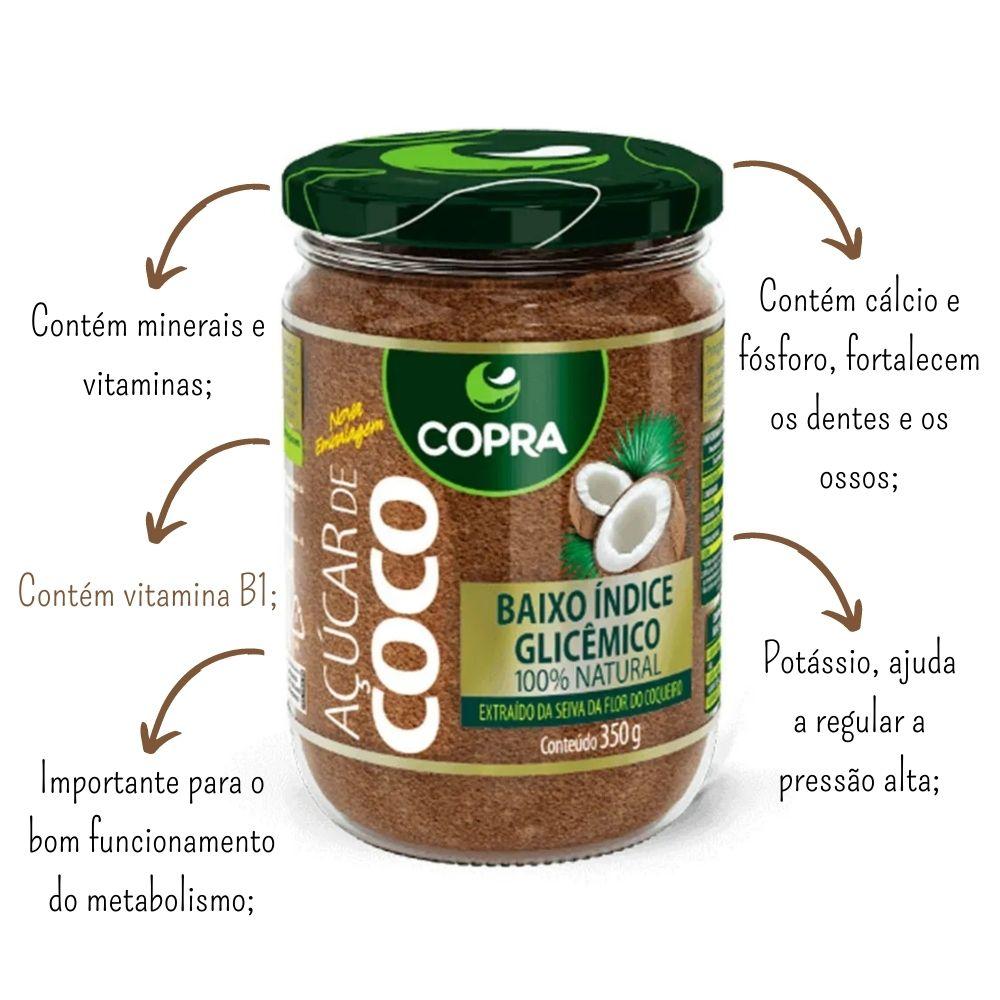 Açúcar De Coco 350g 100% Puro Natural - Copra