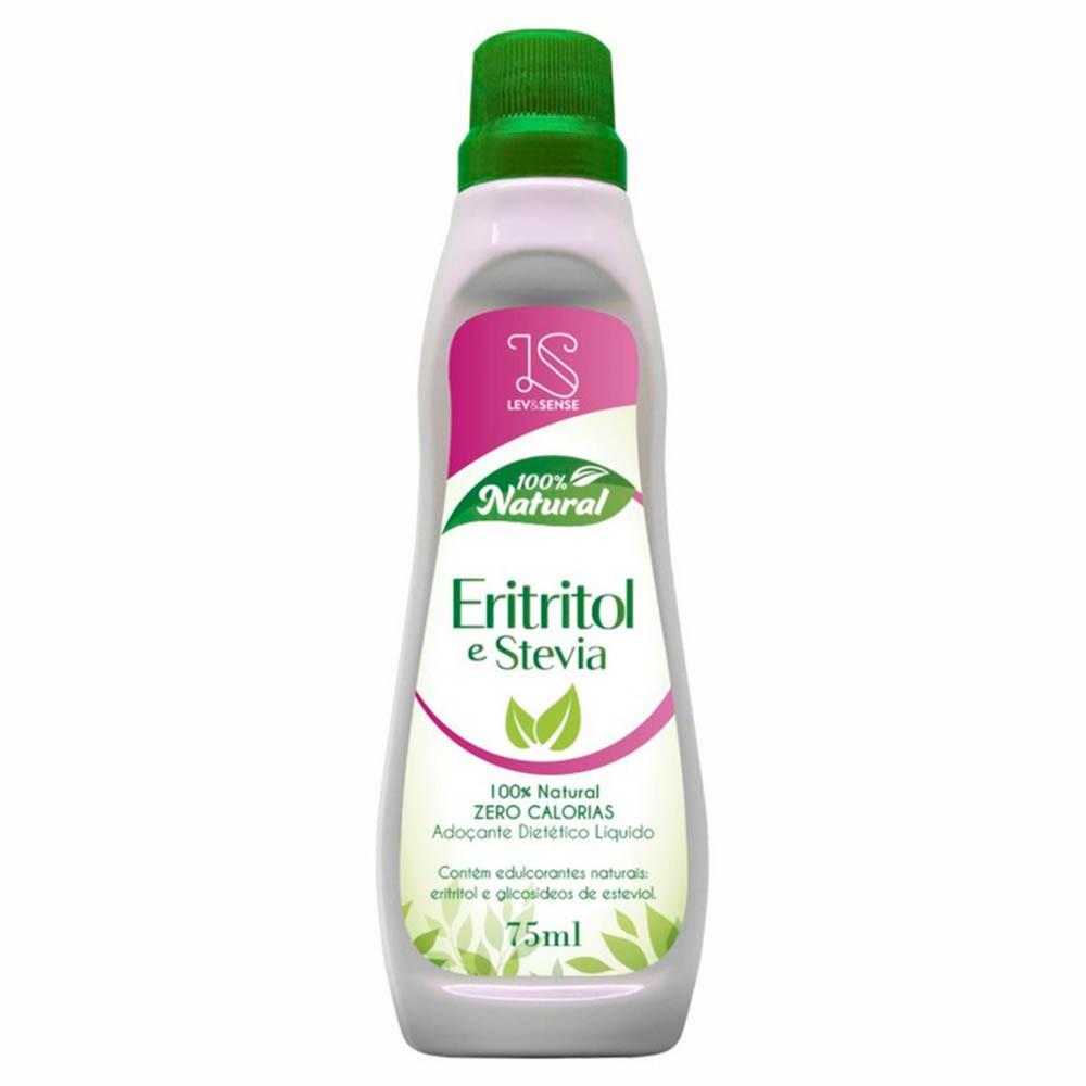 Adoçante Líquido Natural Eritritol E Stevia 75ml - Lev&Sense