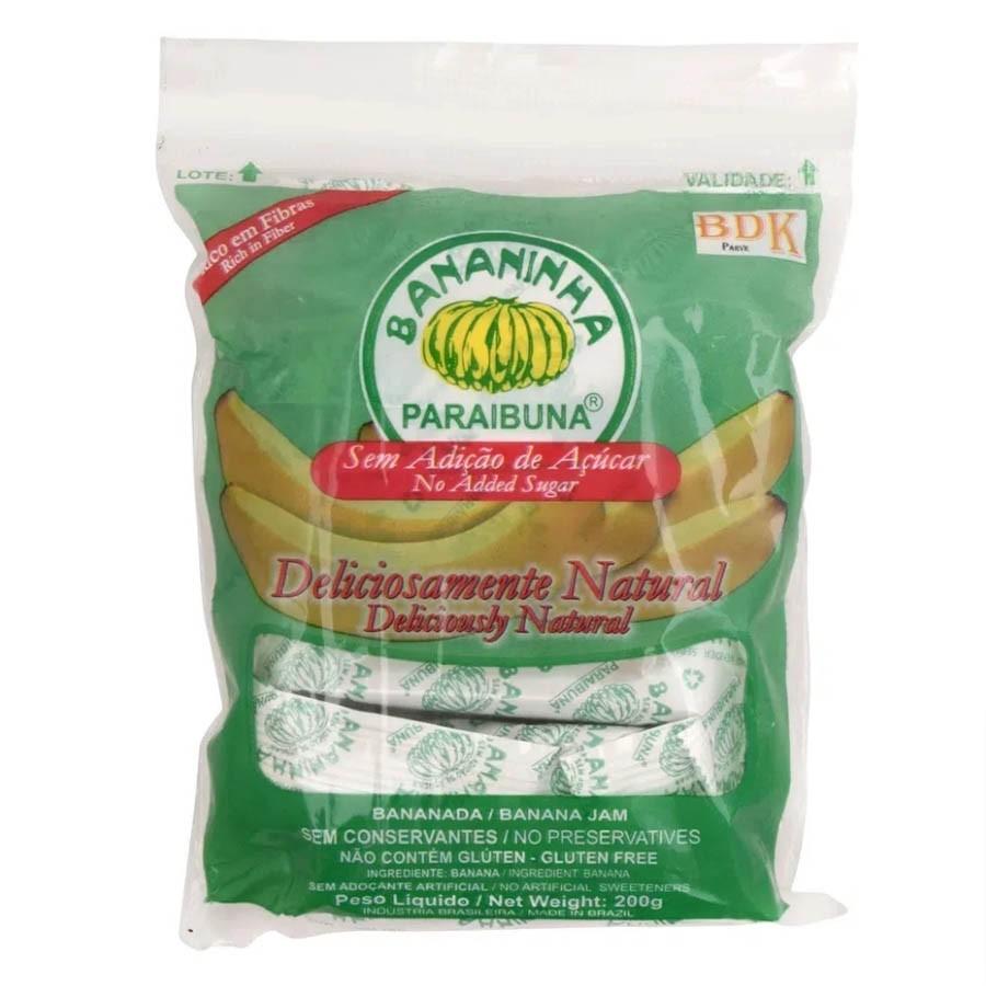 Bananinha Paraibuna Saquinho De 200g Sem Adição De Açúcar