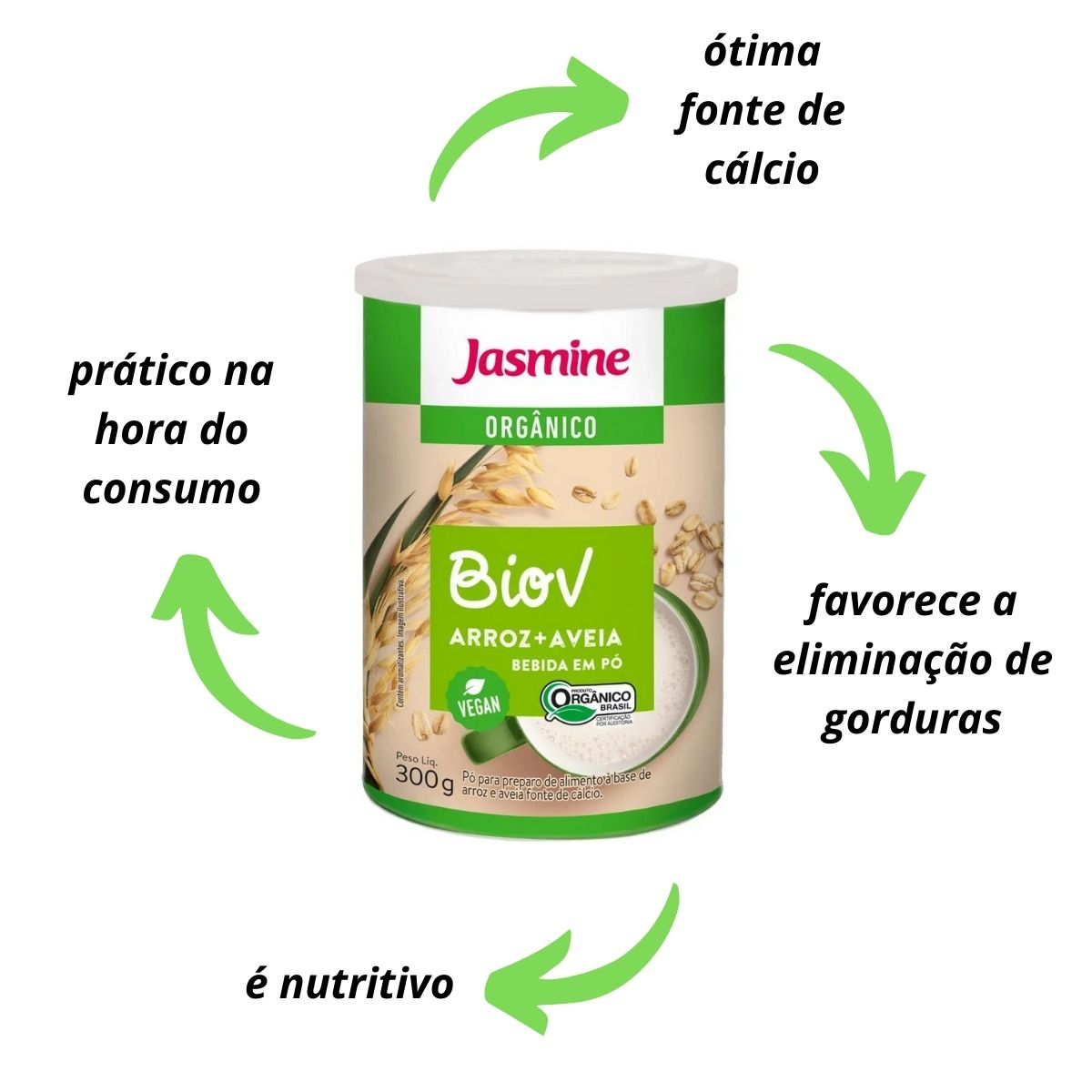Bebida de arroz e aveia - BIOV