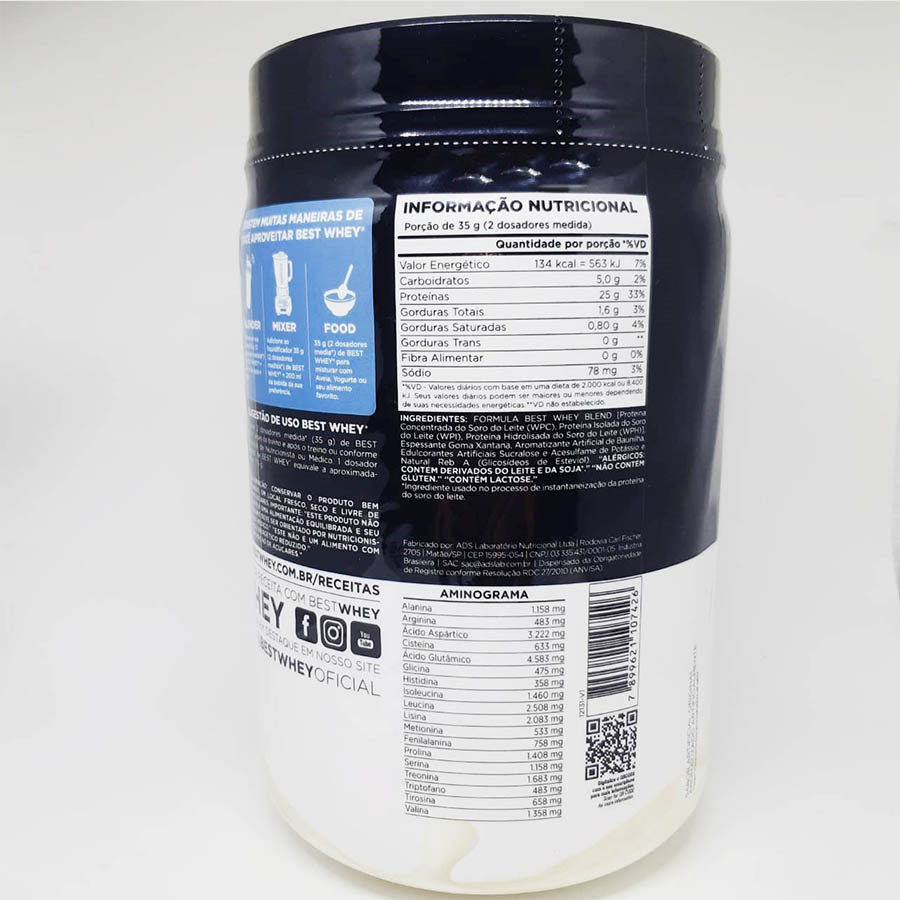 Best Whey Protein Original 450g - Atlhetica Nutrition