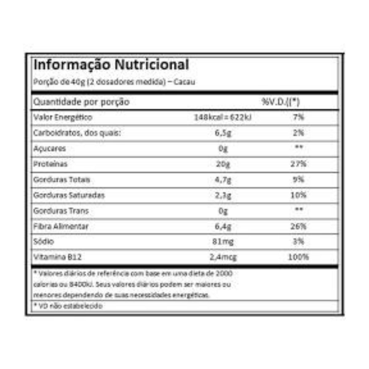 Best whey vegan cacau 500g - Atlhetica Nutrition