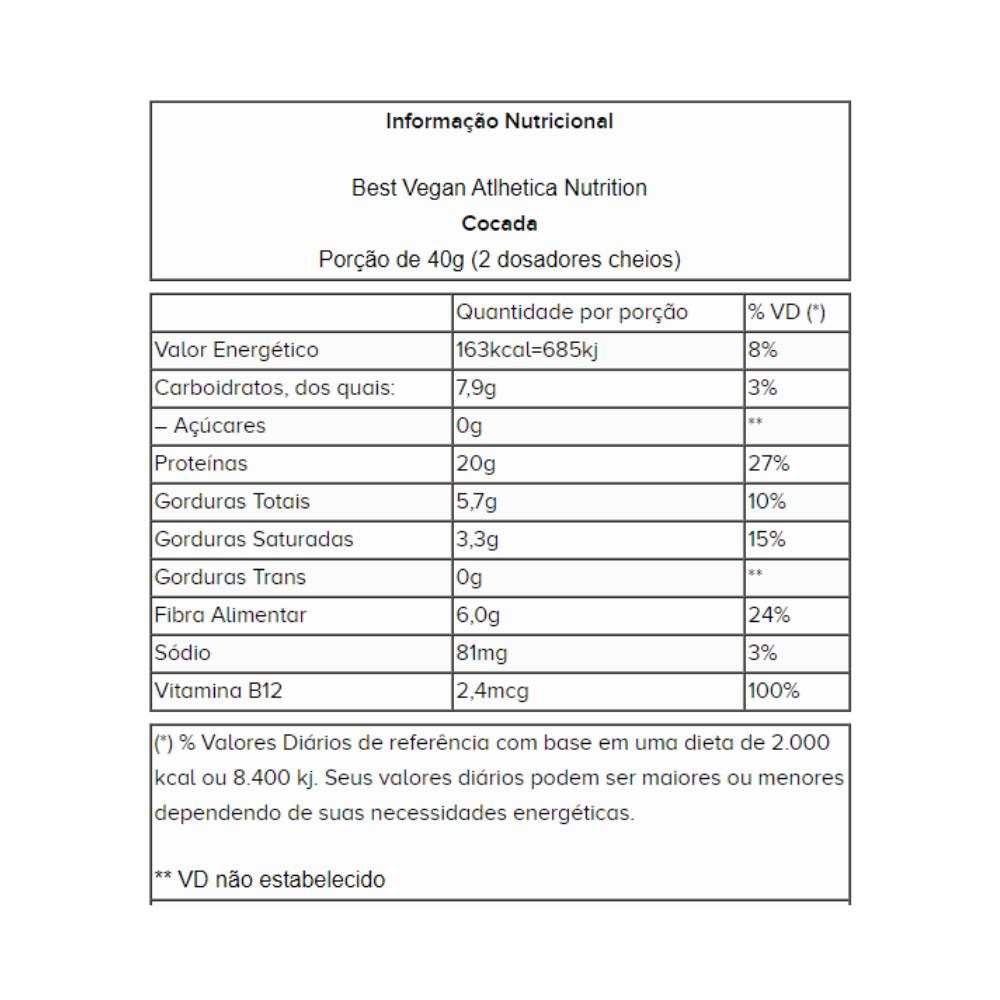 Best Whey Vegan Cocada 500G - Atlhetica Nutrition