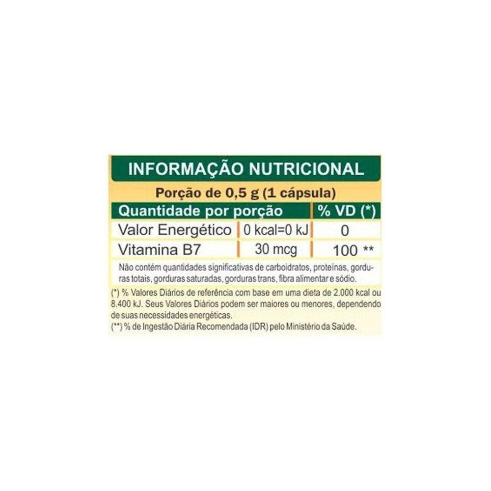 Vitamina B7 Biotina 500MG 60Caps - UNILIFE