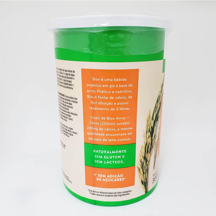 BioV Bebida de Arroz em Pó + Cálcio 300g - Jasmine