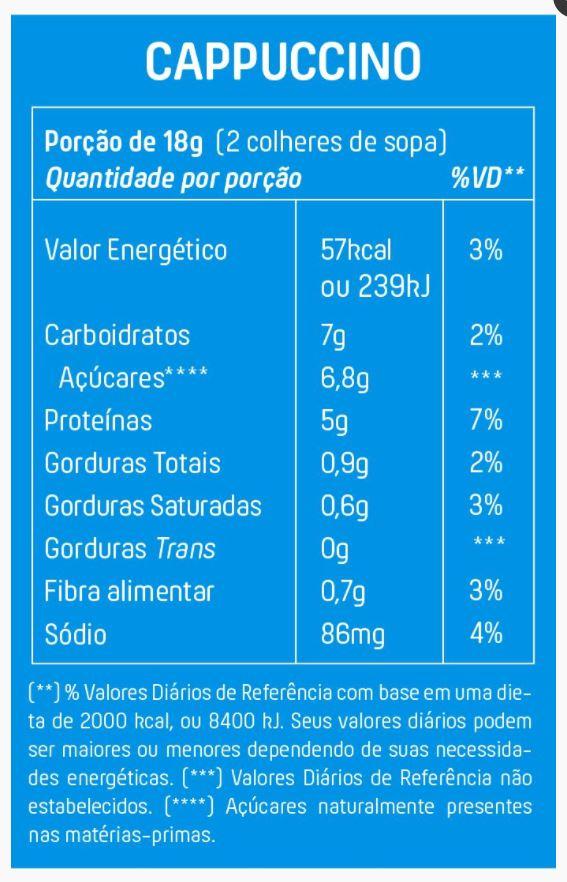 Cappuccino Proteico Com Canela E Pimenta 200g Mais Mu
