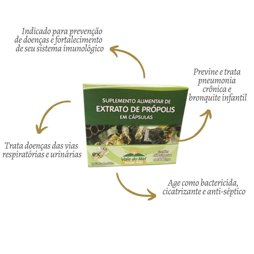 Cápsula de Própolis Verde com 50 unidades - Vale do Mel