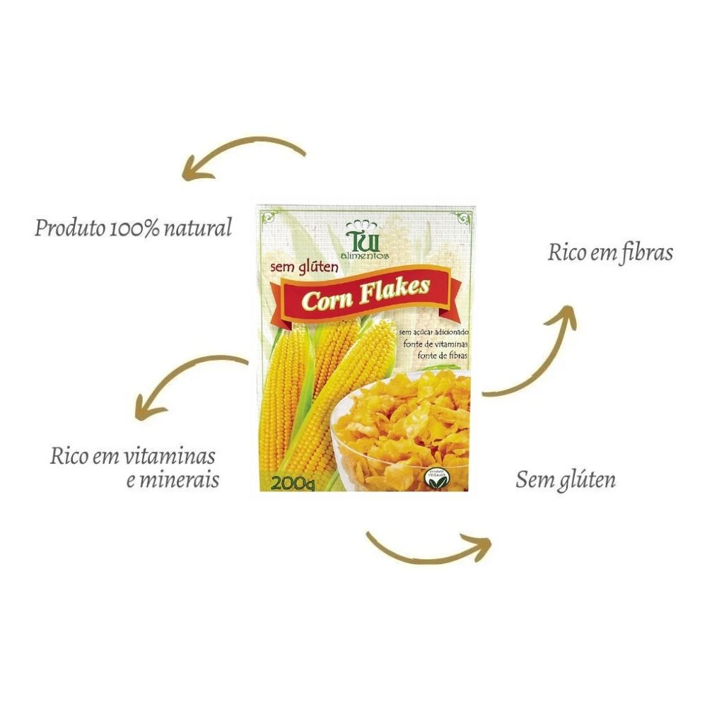 Cereal Corn Flakes 200g - Tui Alimentos
