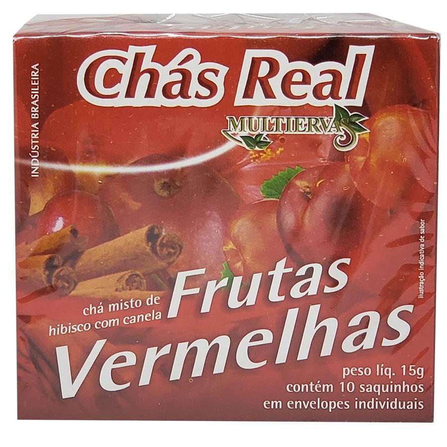 Chá Multi Ervas Chá Misto De Hibisco Com Canela Frutas Vermelhas 10 Saquinhos - Chás Real