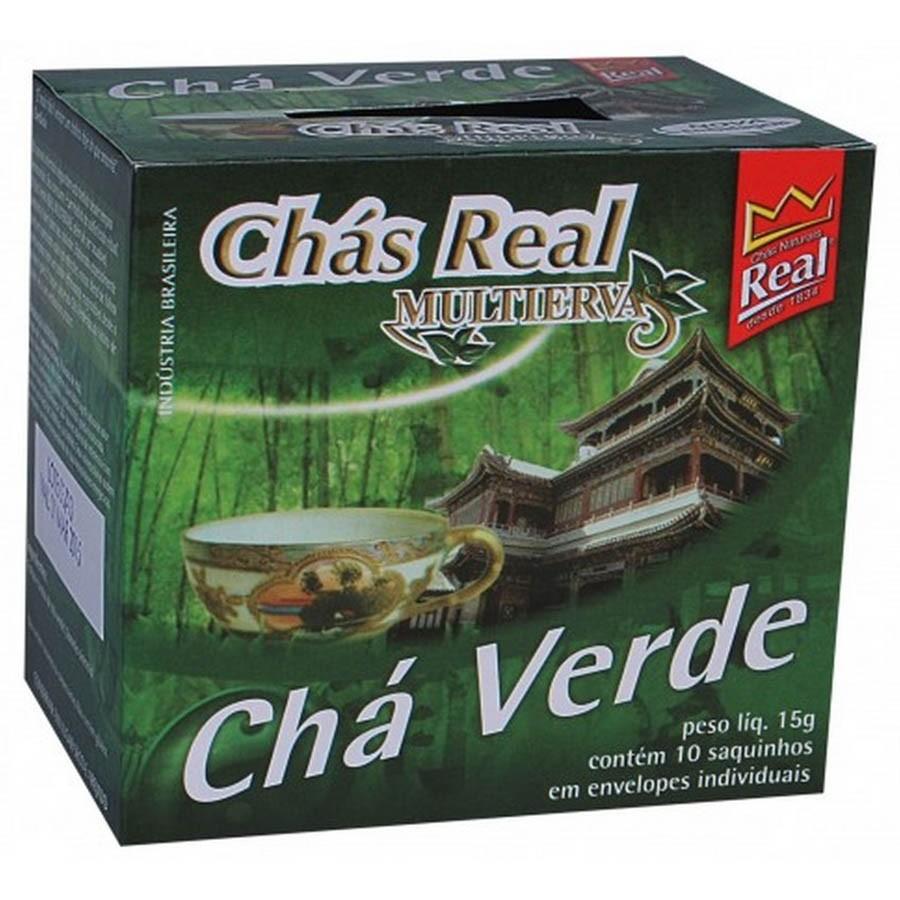 Chá Multi Ervas Chá Verde Sachês Chá Real 10 Saquinhos - Chás Real