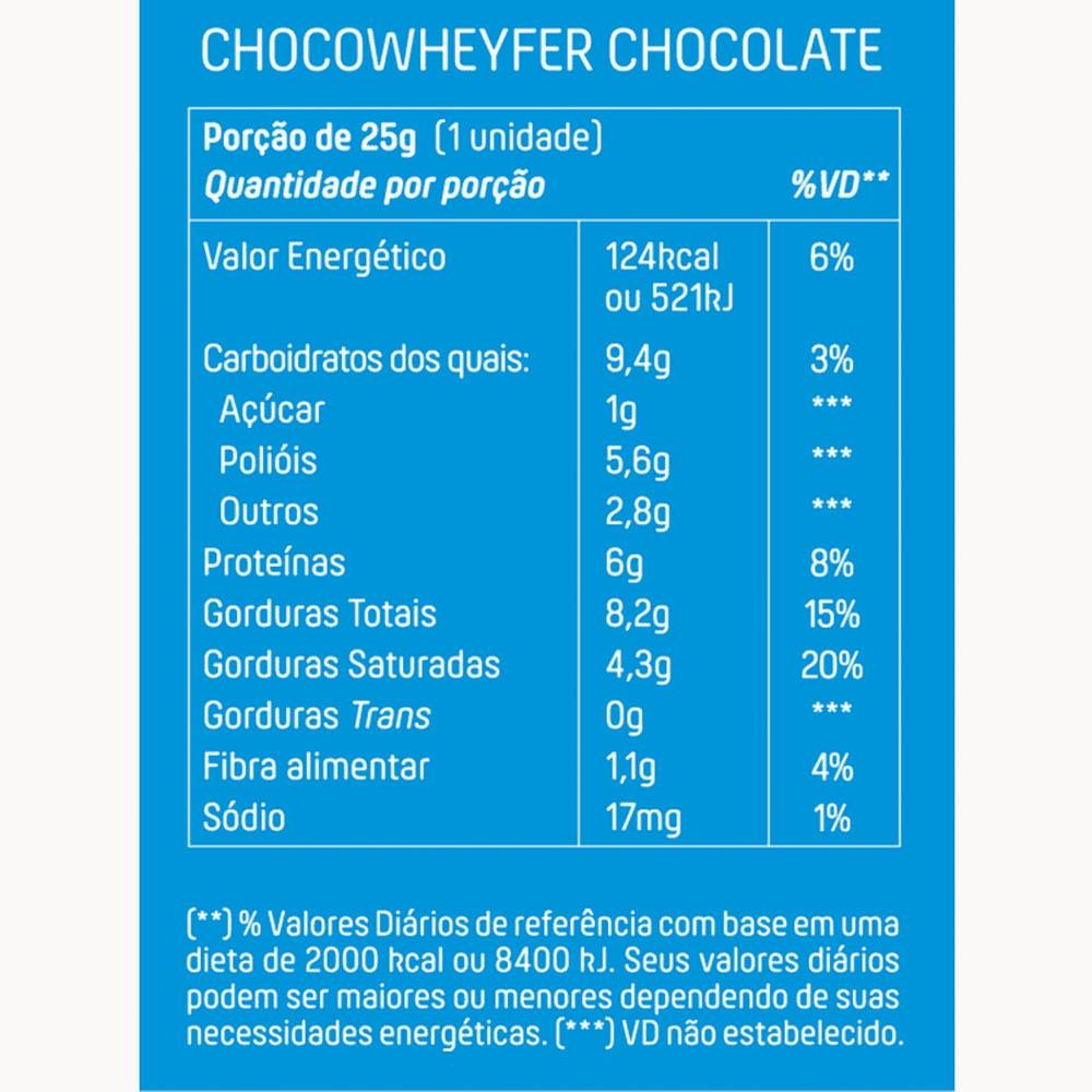 Choco Wheyfer Chocolate 12 Unidades +Mu