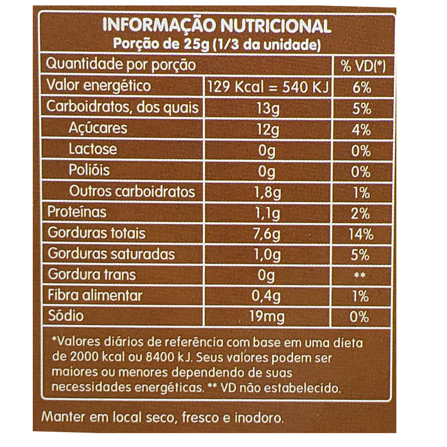 Chocolate 40% Cacau 80g - Zero Milk