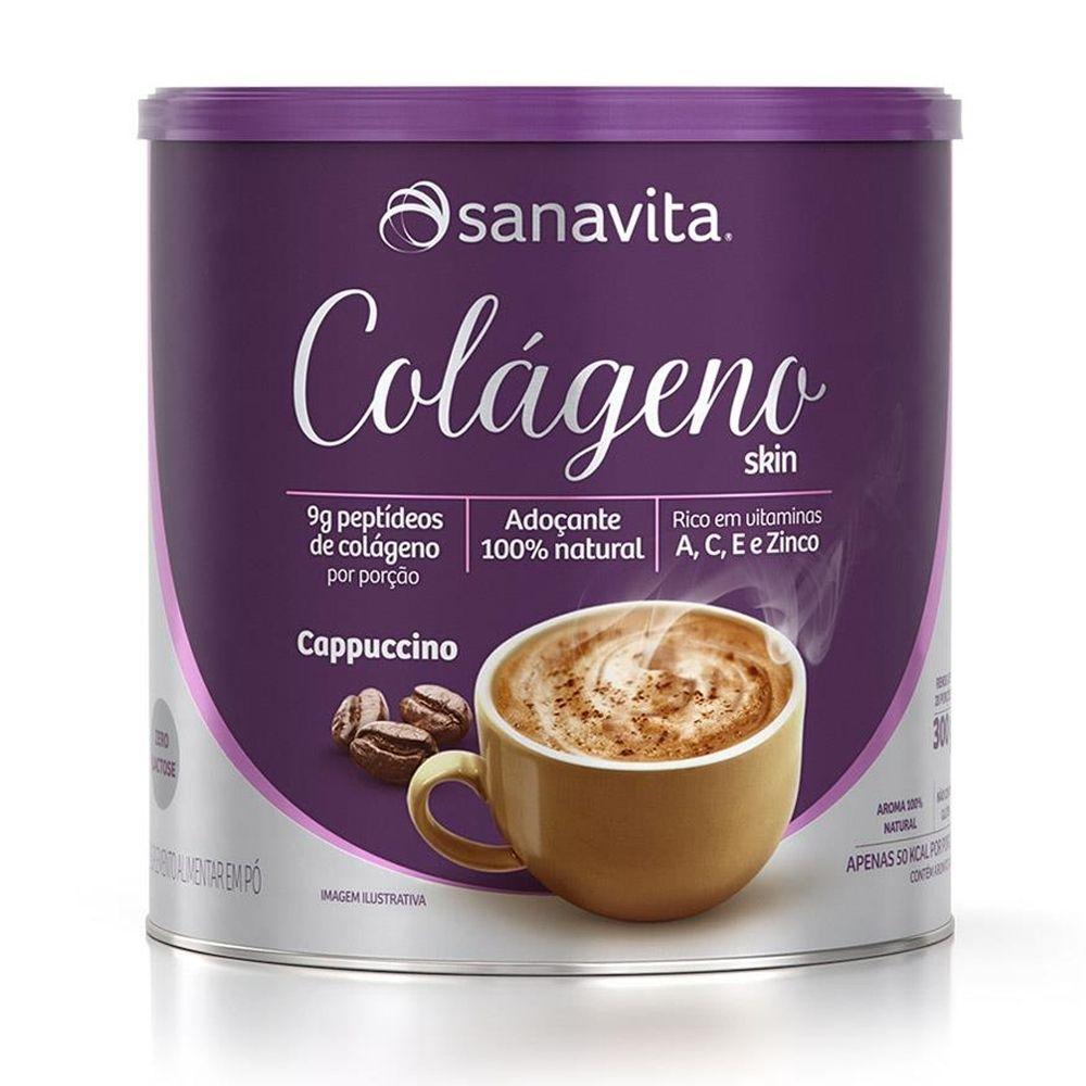 Colágeno Hidrolisado Skin Cappucino Lata 300g Sanavita